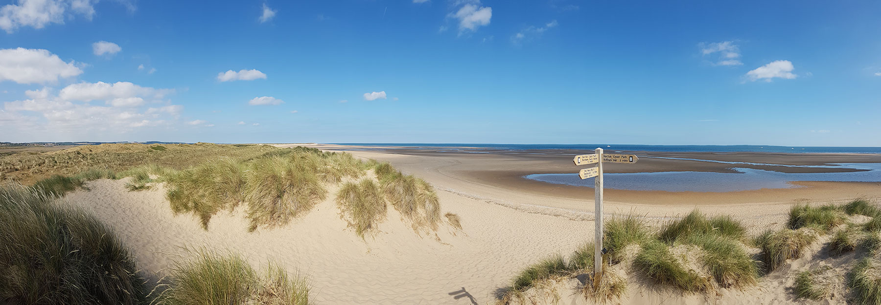 Norfolk beach and sand dunes