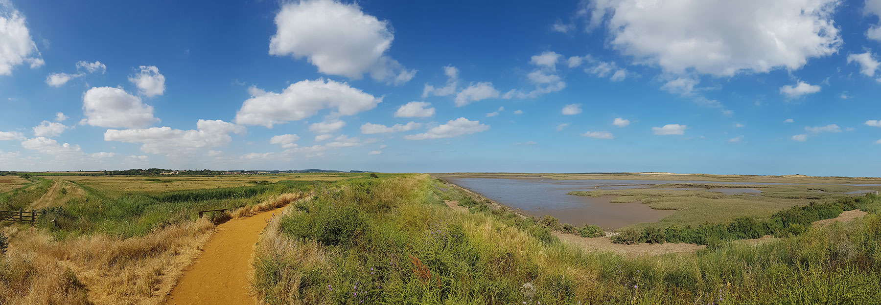 Norfolk marshes at Burnham Overy Staithe