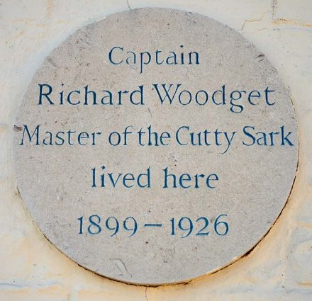 Richard Woodget (Master of the Cutty Sark) lived here